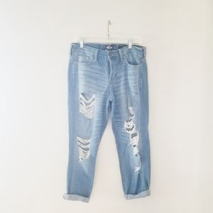 Hollister jeans distressing